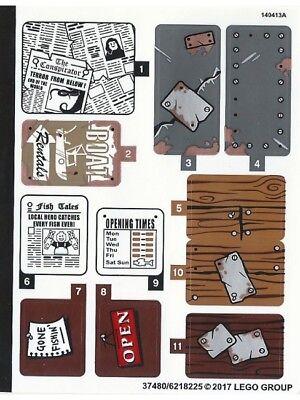 LEGO 21310 - LEGO Ideas (CUUSOO) - Old Fishing Store - STICKER SHEET