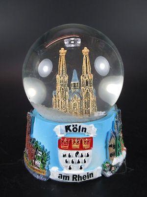Schneekugel Köln Dom Cologne 9 cm,Snowglobe Germany Souvenir,Neu
