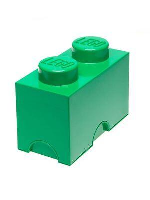 Lego Verde Almacenaje Ladrillo 2 Dormitorio Infantil/Playroom Juguete Nuevo