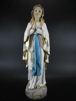 Virgen De Lourdes,19 CM Poli Figura Religion,Figura Decorativa,Efecto