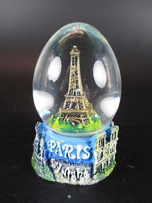 Paris Schneekugel Eiffelturm Snowglobe Waterglobe,Souvenir Frankreich France,Ei