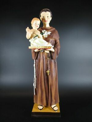 Holy Antonius with child, 40cm! Statue Poly Figurine Holy Statue Religion