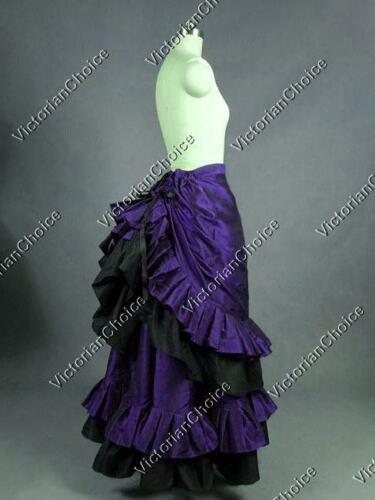 Victorian Edwardian Bustle Steampunk Skirt PURPLE Witch Halloween Costume K034