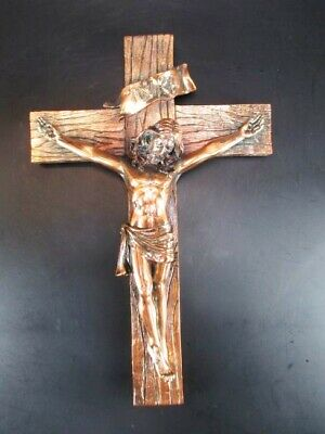 Jesus Cross Jesus 25 CM, Copper Color, to Hang Up, Jesus Wall Cross, Poly-Metall