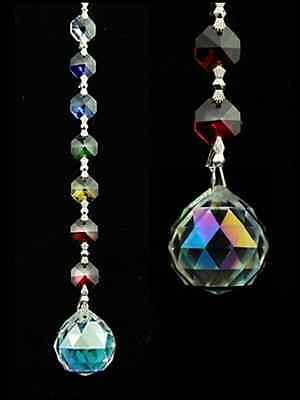 """Glas """"Kristall"""" Kette  """"Aurora Sphere"""" Feng Shui Suncatcher Fensterdeko Chakra"""