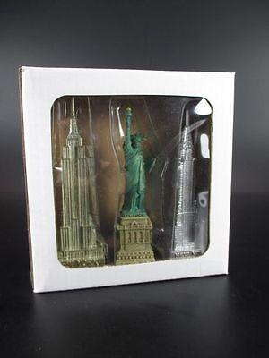 New York Freiheitsstatue Empire State Chrysler Building Souvenir USA Amerika 3er