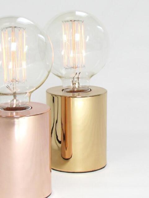 Sil Gold Table Lamp Light, Modern, Contemporary, Designer   For Edison Bulb