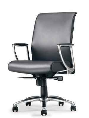 Allseating Zip Leather Conference Table Chair With Arms