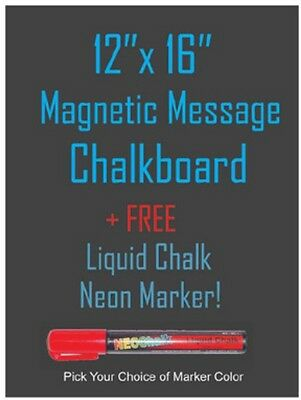 Neoplex 12x16 Magnetic Backed Kitchen Chalkboard Free Liquid Chalk Marker