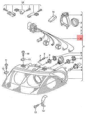 Genuine Adapter Cable Loom VW Passat Variant Santana 3B3 3B6 3B0971671