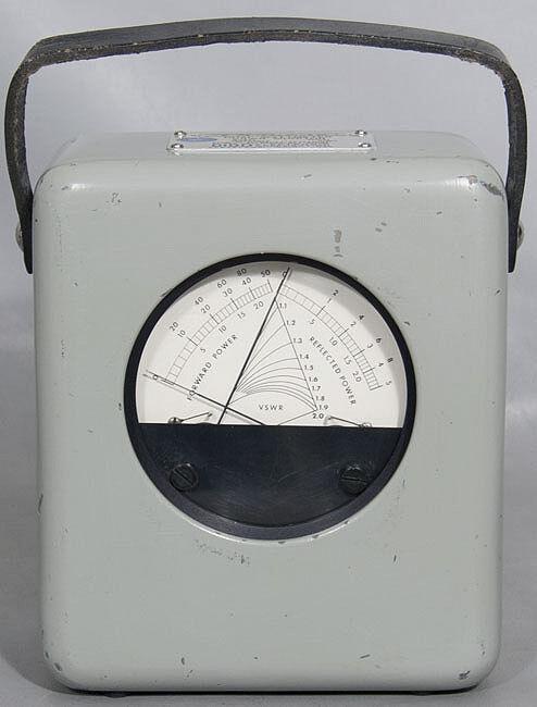 Bird Thruline 4342 RF Directional Dual Wattmeter VSWR Monitor Watt Meter