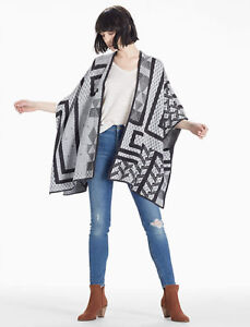 New with tags LUCKY BRAND Intarsia Poncho online $89.99 US