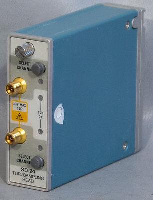 Tektronix Sd-24 2-ch Dso Oscilloscope 20 Ghz Tdrsampling Head Sd24 For 11801c