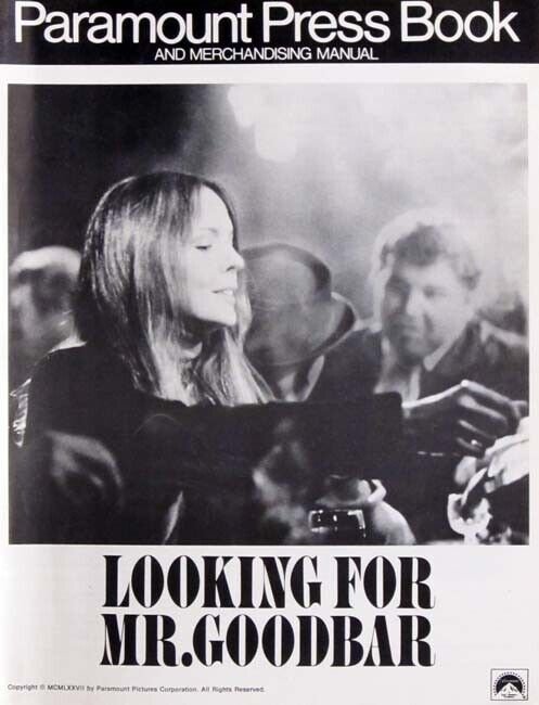 LOOKING FOR MR. GOODBAR great movie PRESSBOOK 1977