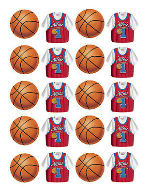 All Star Basketball Party Stickers - Birthday Party Supplies (Basketball Birthday Supplies)