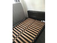 KING SIZE brown leather bed