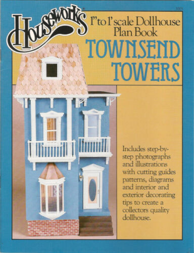 Dollhouse Miniature Plan Book Townsend Towers Patterns  1:12 Scale