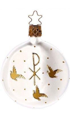 Inge Glas Form Faith 1-223-06 German Glass Christmas Ornament - Faith Glass Ornament