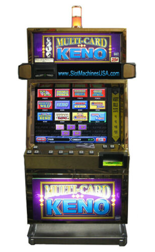 IGT MULTI CARD KENO, NEW LCD