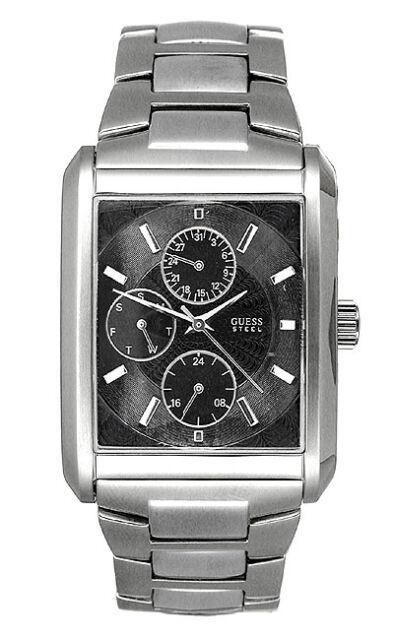 guess men watch stainless steel bracelet g95291g guess men s g95291g stainless steel bracelet watch