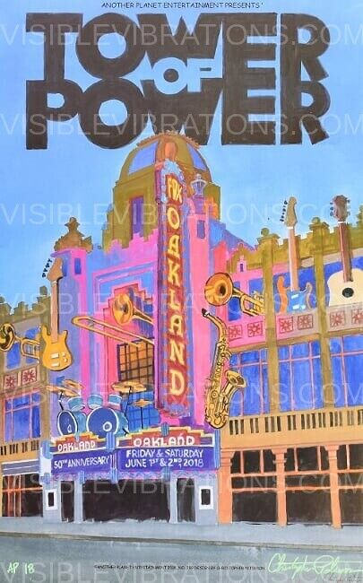 Tower Of Power Concert Poster 2018 Chris Peterson Oakland