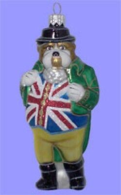 Charakter Ornamente : Ye Olde Englische Bulldogge Glas Weihnachten Ornament