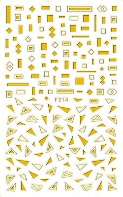 Geometric figure Graphics Shapes Triangle Square 3D Nail Stickers F214 Sticker Art Shapes