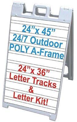 Sidewalk Sign Letter Track Bk 24x 36 Signicade A-frame