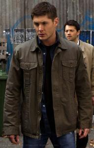 Dean Winchester Supernatural Green Gap Pocket Sleeve Jacket - Size Small