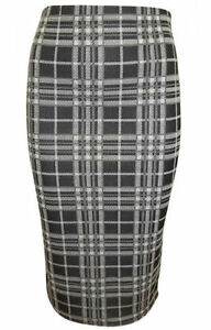 NEW-EX-TOPSHOP-BLACK-CHECKED-PENCIL-SKIRT