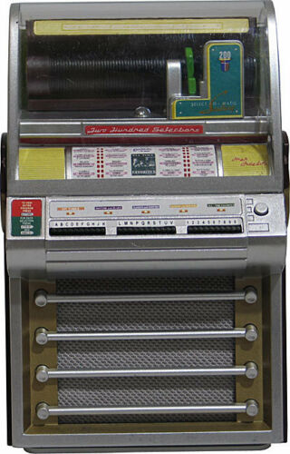 JUKEBOX SEEBURG V200 (1955) COLLECTIBLE MINIATURE LIGHTS & PLAYS FRANK SINATRA