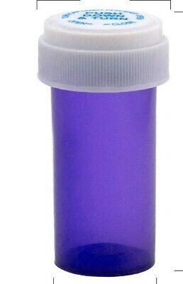 Medicine Pill Vials Blue 11 Dram With Child Resistant Cap Case400
