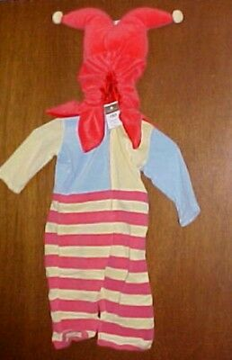 New All In One Fleece Jolly Jester Costume 6 to 18 Months