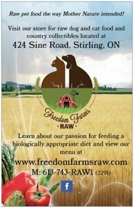 Freedom Farms Raw: Pet (Cat & Dog) Food the Way Nature Intended!