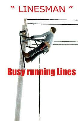 LINESMAN up on Pole Repairing Lines, HO Scale Custom Worker FINISHED - Ups Worker