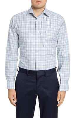 BNWT Eton Slim Fit Multi-Check Dress Shirt Size 15.5 MSRP $260!!!