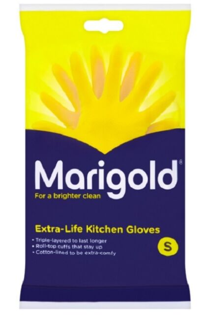 Marigold Extra Life Kitchen Rubber Gloves - Small / Medium / Large - FREE P&P