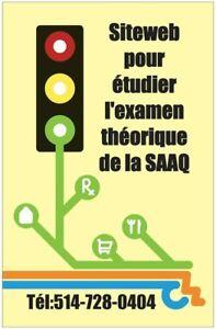 Préparation a  l'examen théorique de la SAAQ