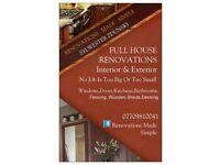 FULL HOUSE RENOVATIONS Interior & Exterior