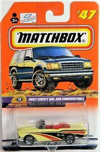 Matchbox 1/64 1957 Chevy Bel Air Convertible Diecast Car