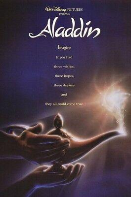 Aladdin - Original 1992 90's Vintage Movie Premier Poster Print Ad Advertisement