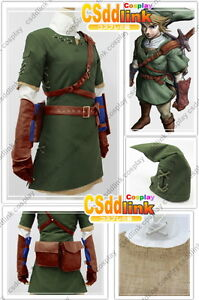 The Legend of Zelda Zelda Link Cosplay Costume csddlink outfit