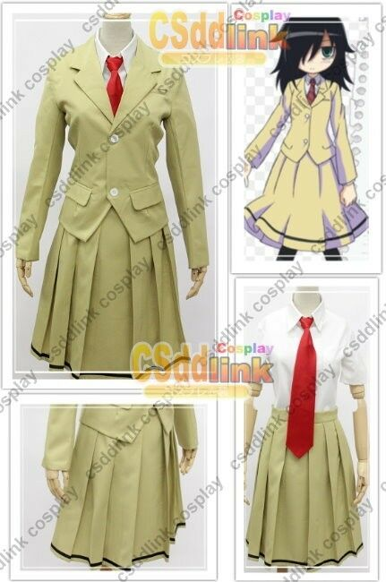 WataMote Tomoko kuroki Cosplay Costume