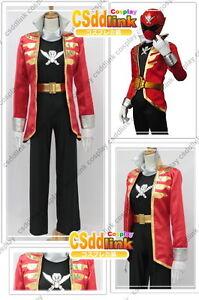 Kaizoku Sentai Gokaiger Gokai Red Cosplay Costume csddlink outfit