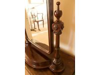 Antique Large Mahogany Dressing Table Mirror