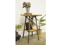Vintage Tortoise Bamboo Side/ Hall Table