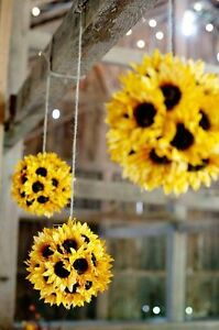 Sunflower Kissing Ball