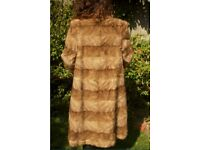 Real and stylish mink fur coat