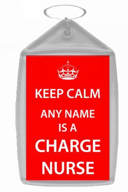 Charge Nurse Personalised Keep Calm Keyring