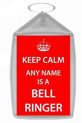 Bell Ringer Personalised Keep Calm Keyring